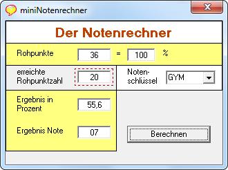 Der Notenrechner